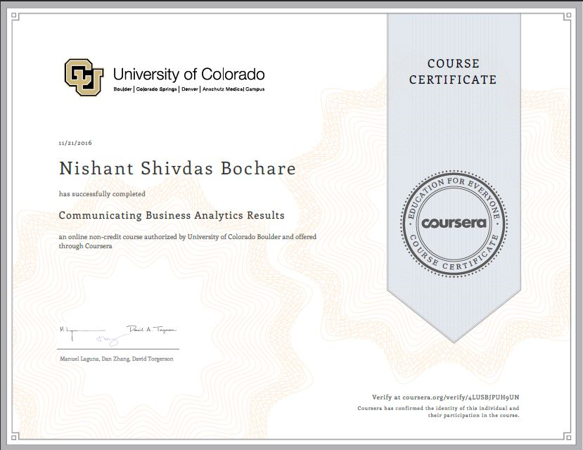 Business Analytics Certificate - Best Design Sertificate 2018