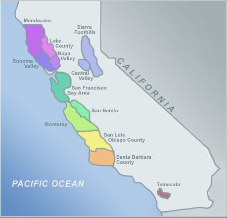 Sonoma Valley California Map.Women Winemakers Of California And Beyond Map Of California